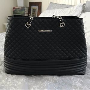 Steven Madden black tote with chain handles